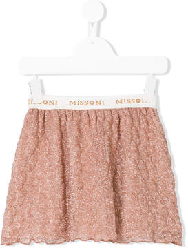 Missoni Kids logo waistband skirt