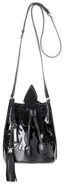 Saint Laurent Leather and suede bucket bag