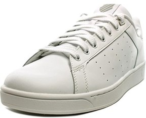 K-Swiss Clean Court Men Round Toe Leather White Tennis Shoe.