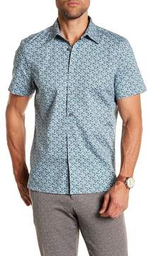Perry Ellis Shirt Sleeve Micro-floral Shirt