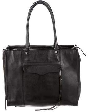 Rebecca Minkoff MAB Leather Tote - BLACK - STYLE
