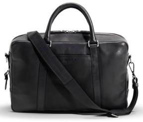 Shinola Men's Signature Leather Slim Briefcase - Black