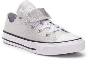 Converse Girls' Chuck Taylor All Star Double Tongue Glitter Sneakers
