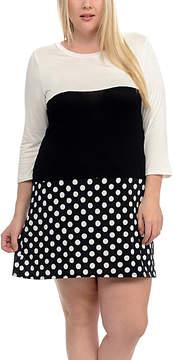Celeste Ivory Color Block Shift Dress - Women