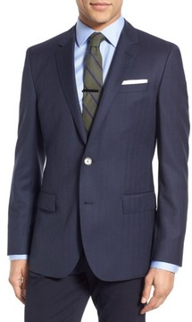 BOSS Men's Hutsons Trim Fit Herringbone Wool Sport Coat