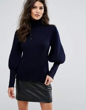 BA&SH Balloon Sleeve Knit Sweater