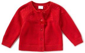 Edgehill Collection Baby Girls Newborn-9 Months Button-Front Cardigan