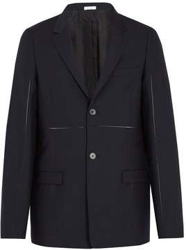 Jil Sander Exposed-seam panelled wool and mohair-blend blazer