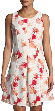 Dex Sleeveless Floral Fit-&-Flare Dress