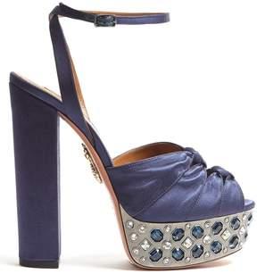 Aquazzura Party Plateau 155 crystal-embellished sandals