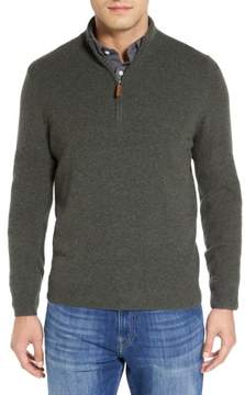 Nordstrom Men's Regular Fit Cashmere Quarter Zip Pullover