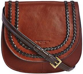Tignanello As Is Vintage Leather RFID Saddle_Bag