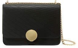 Neiman Marcus Diagonal Quilted Flap Crossbody Bag