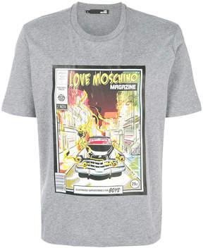Love Moschino magazine logo T-shirt