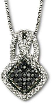 Black Diamond FINE JEWELRY Sterling Silver Color-Enhanced Pendant Necklace