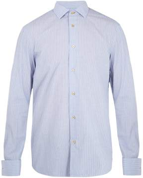 Paul Smith Double-cuff striped cotton shirt