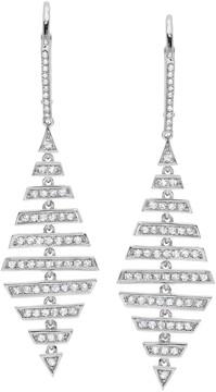Crislu CZ Pave Layered Drop Earrings