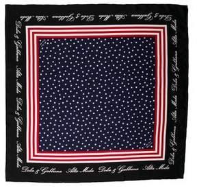 Dolce & Gabbana American Flag Print Silk Scarf