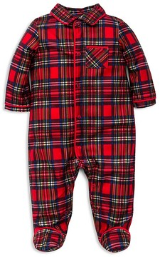 Little Me Boys' Plaid Footie - Baby