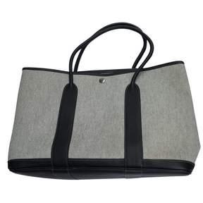 Hermes Garden Party cloth handbag - GREY - STYLE