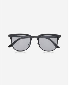 Express gray browline sunglasses