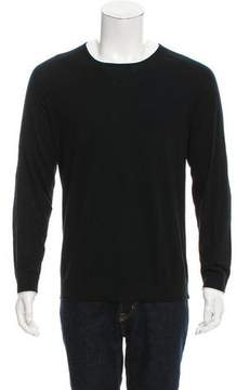 J Brand Suede-Trimmed Knit Sweater