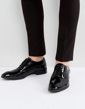 Base London Holmes Patent Oxford Shoes In Black
