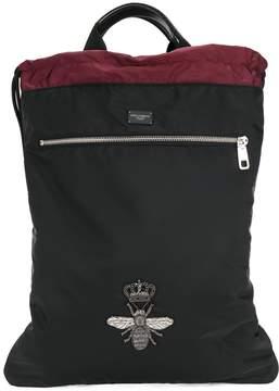 Dolce & Gabbana bee crest appliqué backpack
