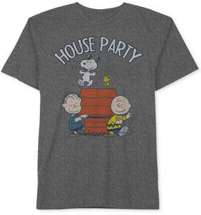 Hybrid Men's Snoopy Graphic-Print Cotton T-Shirt
