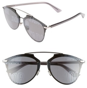 Christian Dior Women's Reflected Prism 63Mm Oversize Mirrored Brow Bar Sunglasses - Palladium/ Grey