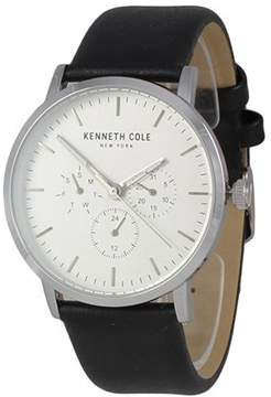 Kenneth Cole Leather Chronograph Mens Watch KC50134001