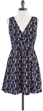 Ark & Co Surplice Splatter Surprise Navy Dress