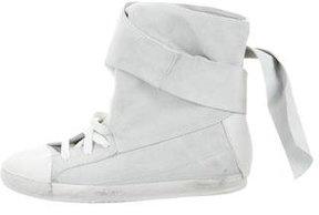 Cinzia Araia Suede High-Top Sneakers