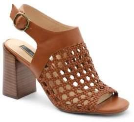 Kensie Sandria Ankle-Strap Woven Sandals