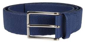 Orciani Men's U07708blu Blue Leather Belt.