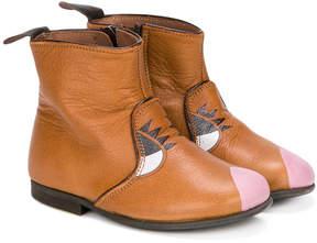 Pépé symmetric print boots