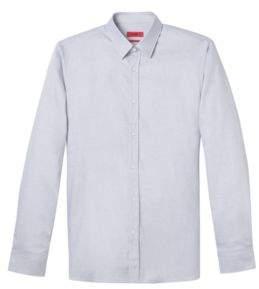 HUGO Boss Herringbone Cotton Dress Shirt, Extra Slim Fit Elisha 15 Dark Blue