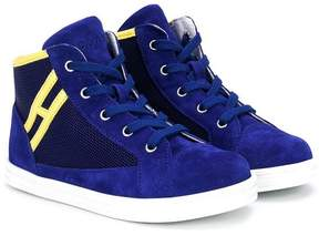 Hogan logo patch hi-tops sneakers