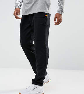 Ellesse Poly Drop Crotch Joggers With Cargo Pockets In Black