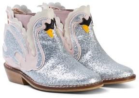 Stella McCartney Pale Pink Swan Lily Boots