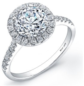 Bony Levy Women's Pave Diamond Leaf Engagement Ring Setting (Nordstrom Exclusive)