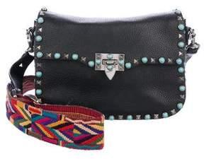 Valentino Rockstud Rolling Crossbody Bag w/ Guitar Strap