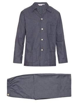 Derek Rose Braemar checked brushed-cotton pyjama set