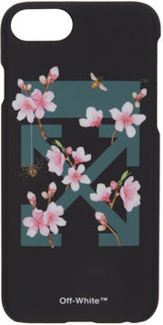 Off-White Black Cherry Flowers iPhone 7 Case