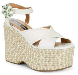 Marc Jacobs Rowan Leather Platform Espadrilles