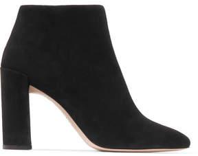 Stuart Weitzman Pure Suede Ankle Boots - Black