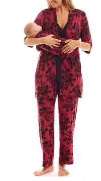 Everly Grey Women's Roxanne - During & After 5-Piece Maternity Sleepwear Set