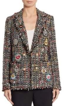 Edward Achour Tweed Patch Jacket