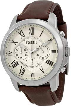 Fossil Grant Chronograph Brown Leather Men's Watch