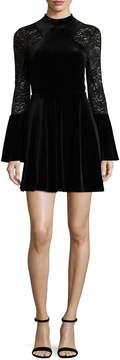As U Wish 3/4 Sleeve Fit & Flare Dress-Juniors